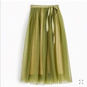 JCREW tulle ball Skirt in Green